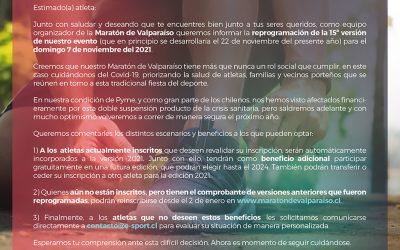Comunicado Maratón 7 Noviembre 2021
